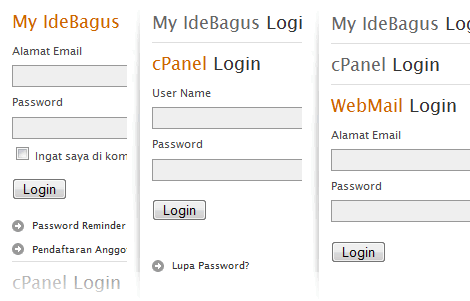 multiple login boxes